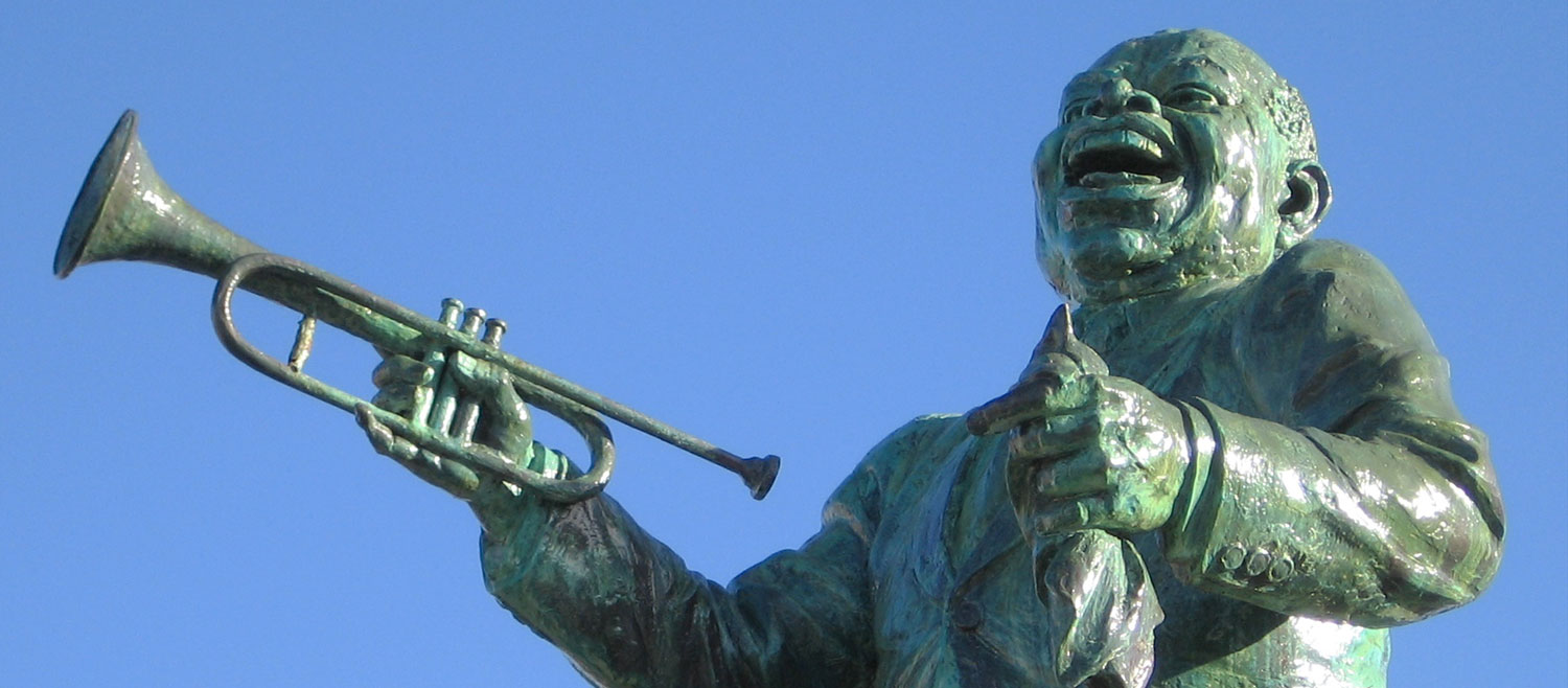 Louis Armstrong statue in Algiers, New Orleans