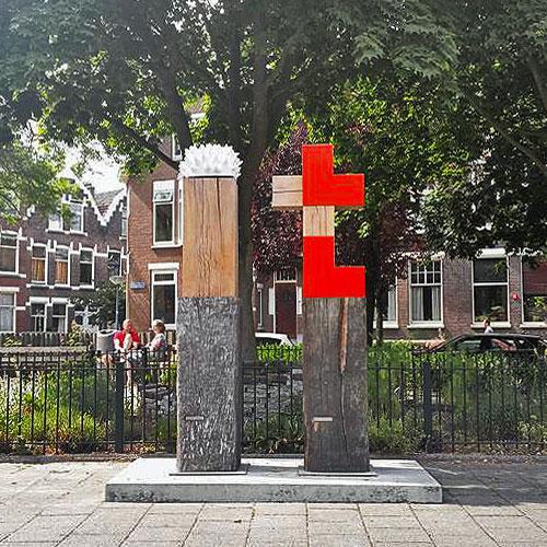Monument voor de Moed en de Liefde Buitenbeelden Bergsellaan Rotterdam Danielle Henger van Rijssen Hout, keramiek en rvs